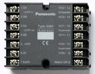 3364 - adresný modul, 2 monitorované výstupy